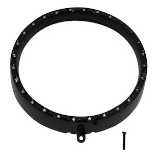 "Custom Dynamics 7"" Halo Headlight Trim Ring For Harley"