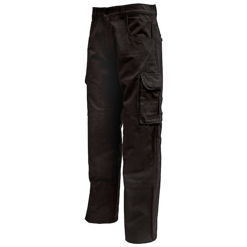 Black Cargo Pants. Black cargo pants are a good looking and handy pair of pants to have around. They are called cargo pants because of a large pocket that is at the side of both legs, making the ability to carry necessities around much easier than with regular pants or normal pockets.