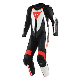 Dainese Laguna Seca D1 Perforated Race Suit Black/White/Fluo Red / 44 [Blemished - Very Good]