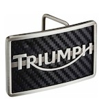 Triumph Carbon Logo Belt Buckle
