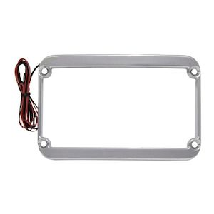Klock Werks LED License Plate Frame For Harley Touring