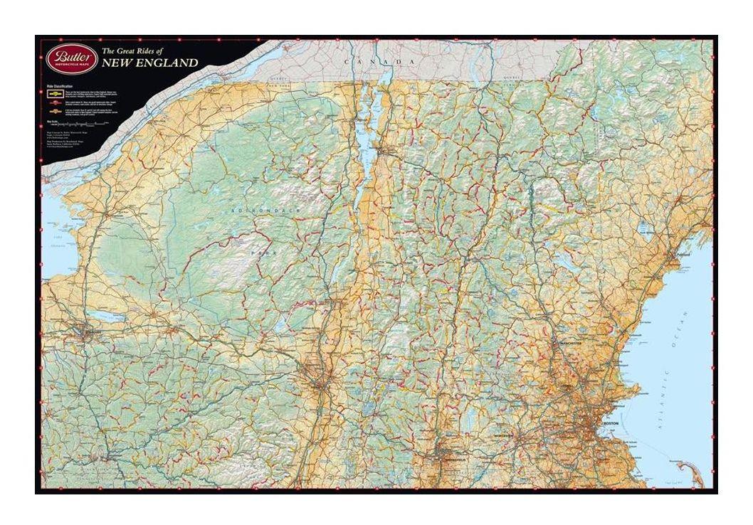 Butler Maps New England - RevZilla