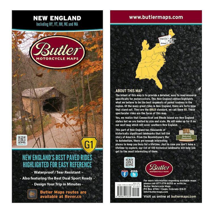 Butler Maps New England