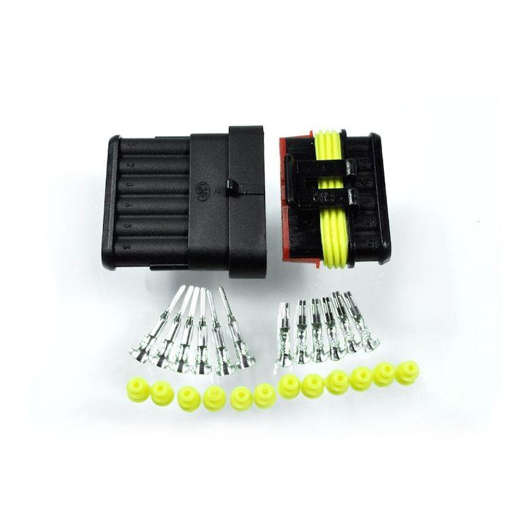Motogadget Plug Connector Kit Amp-Style 6-Pole
