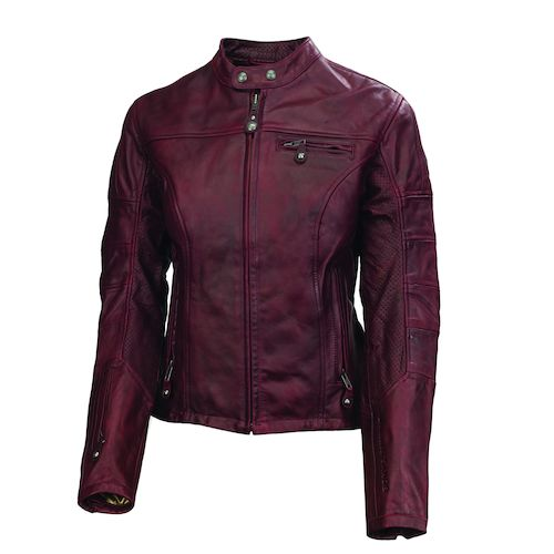 Womens leather jacket oxblood