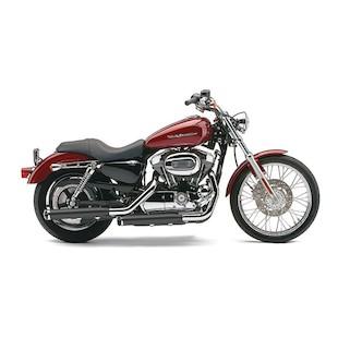 """Cobra 3"""" Slip-On Mufflers For Harley Sportster 2004-2013 Black [Demo - Good]"""
