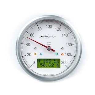 Motogadget Motoscope Classic Speedometer and m-TRI Signal Adapter Triumph Bonneville 2014