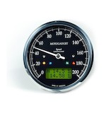 Motogadget Chronoclassic Speedometer and m-TRI Signal Adapter Triumph Speed Triple R 2012