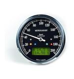 Motogadget Chronoclassic Speedometer and m-TRI Signal Adapter Triumph Speed Triple R 2012