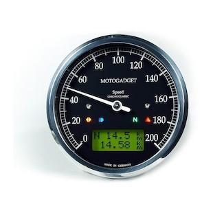 Motogadget Chronoclassic Speedometer and m-TRI Signal Adapter Triumph Thruxton 2014