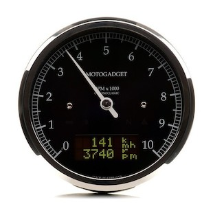 Motogadget Chronoclassic DarkEdition Tachometer and m-TRI Signal Adapter Triumph Thruxton 2015