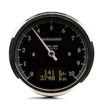 Motogadget Chronoclassic DarkEdition Tachometer and m-TRI Signal Adapter Triumph Bonneville T100/SE 2011