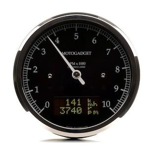 Motogadget Chronoclassic DarkEdition Tachometer and m-TRI Signal Adapter Triumph Scrambler 2012