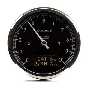Motogadget Chronoclassic DarkEdition Tachometer and m-TRI Signal Adapter Triumph Thruxton 2011