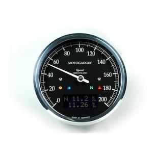 Motogadget Chronoclassic DarkEdition Speedometer and m-TRI Signal Adapter Triumph Thruxton 2011