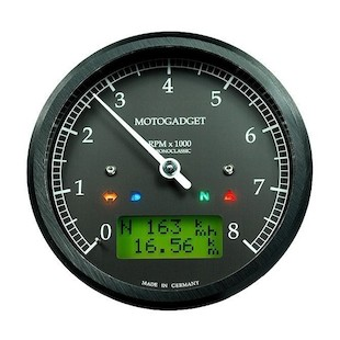 Motogadget Chronoclassic Tachometer and m-TRI Signal Adapter Triumph Scrambler 2015