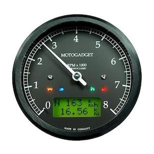 Motogadget Chronoclassic Tachometer and m-TRI Signal Adapter Triumph Scrambler 2013
