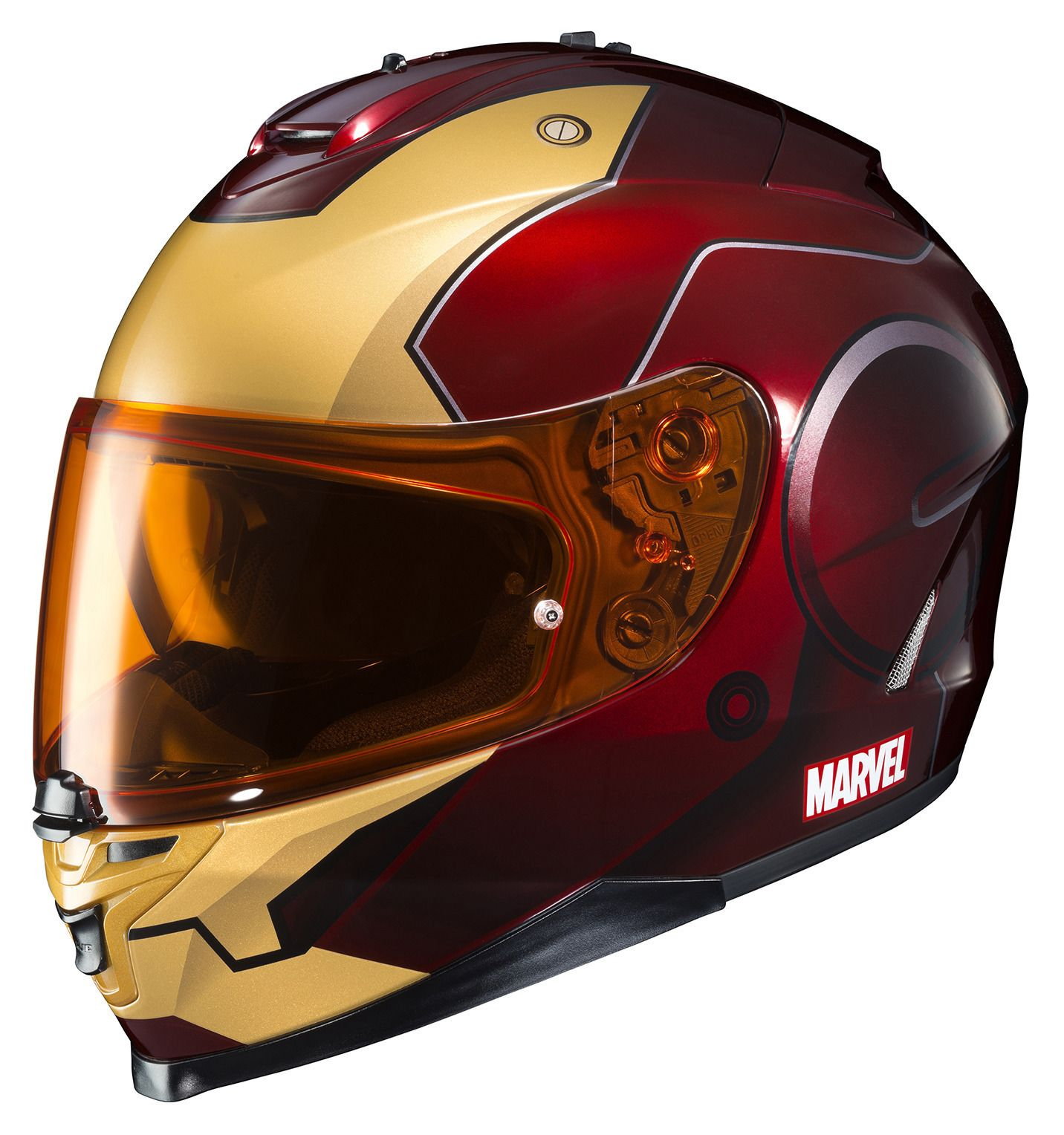 hjc is 17 iron man helmet 20 off revzilla. Black Bedroom Furniture Sets. Home Design Ideas