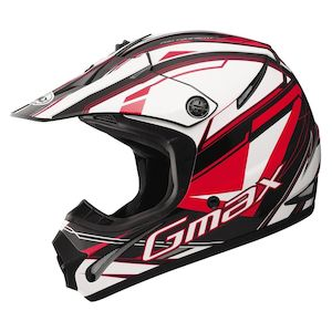 GMax Youth GM46.2 Traxxion Helmet Black/Red/White / YTH MD [Demo - Good]