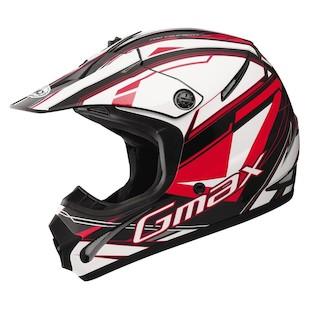 GMax Youth GM46.2 Traxxion Helmet Black/Red/White / YTH MD [Demo - Good]