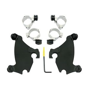 Memphis Shades Gauntlet Fairing Trigger-Lock Mount Kit For Harley 1986-2019