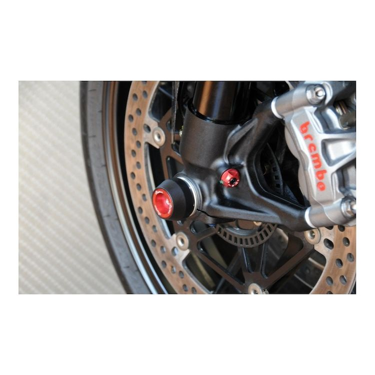 LighTech Axle Sliders Front Ducati 1199 Panigale / Diavel Red [Previously Installed]
