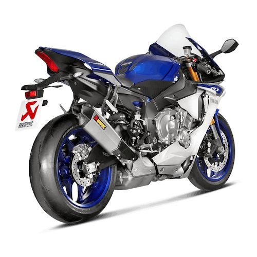 akrapovic slip on exhaust yamaha r1 r1m 2015 2017 revzilla. Black Bedroom Furniture Sets. Home Design Ideas