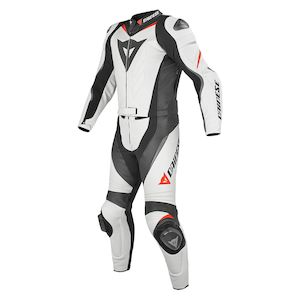 Dainese Laguna Seca EVO Perforated Two Piece Race Suit White/Black/Fluo Red / 46 [Blemished - Very Good]
