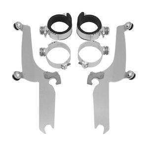 Memphis Shades MEM8980 Polished Trigger-Lock Mount Kit for Yamaha XVS1100A and XVS650A V-Star Classic 1998-2015