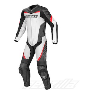 Dainese Racing Perforated Race Suit White/Black/Red / 54 [Demo - Acceptable]