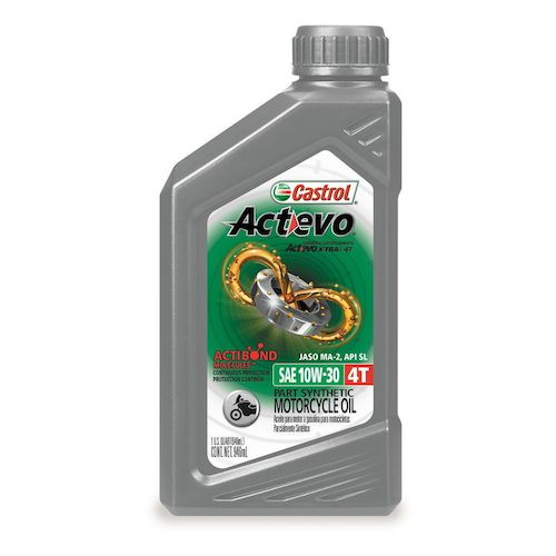 Castrol actevo x tra semi synthetic 4t engine oil revzilla for Castrol synthetic motor oil