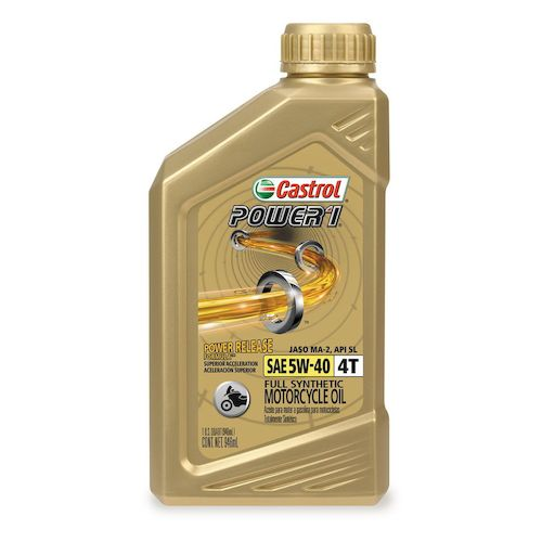 Castrol power 1 synthetic 4t engine oil revzilla for Castrol synthetic motor oil