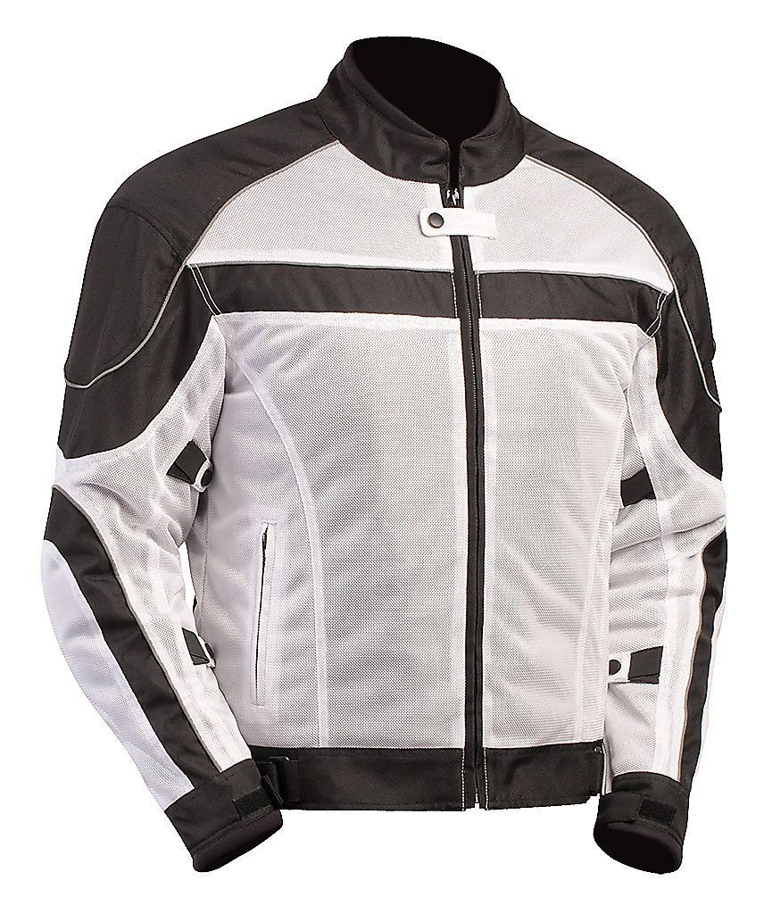 Black//Grey XS BILT Womens Techno Mesh Motorcycle Jacket