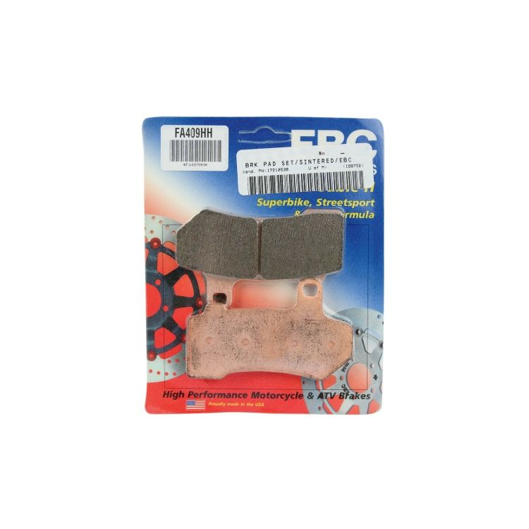 EBC Brakes Double-H Sintered Front / Rear Brake Pads For Harley Touring / V-Rod 2008-2019