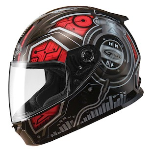 GMax Youth GM49 DJ Helmet Black/Red / YTH SM [Open Box]