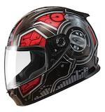 GMax Youth GM49 DJ Helmet Black/Red / YTH SM [Open Box]