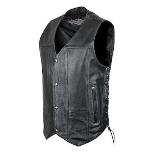 Street & Steel 2nd Amendment Leather Vest