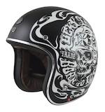 Torc T-50 Lucky 13 Smoke Skull Helmet