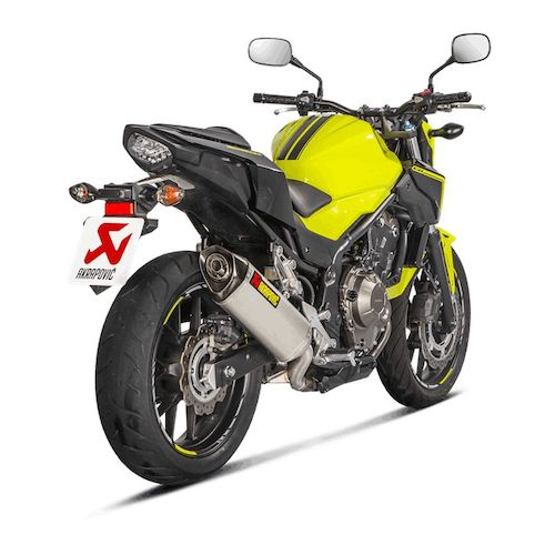 akrapovic slip on exhaust honda cbr500r cb500f cb500x 2016 2017 revzilla. Black Bedroom Furniture Sets. Home Design Ideas