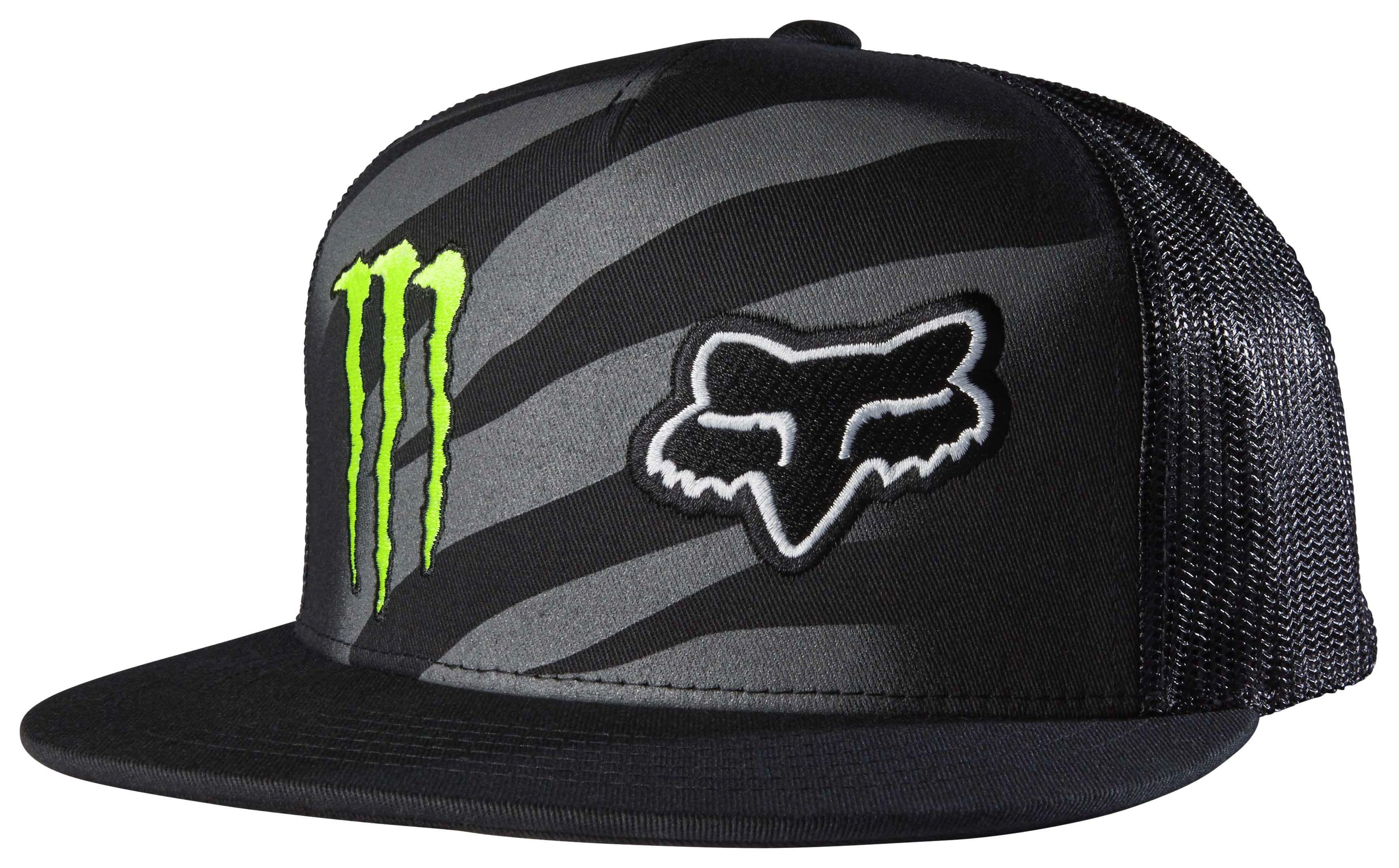 Fox Racing Monster Zebra Snapback Hat Revzilla