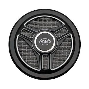 S&S Tri-Spoke Stealth Air Cleaner Cover Black [Open Box]