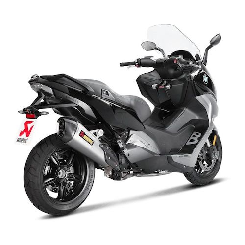 akrapovic slip on exhaust bmw c650 sport 2016 2017 revzilla. Black Bedroom Furniture Sets. Home Design Ideas