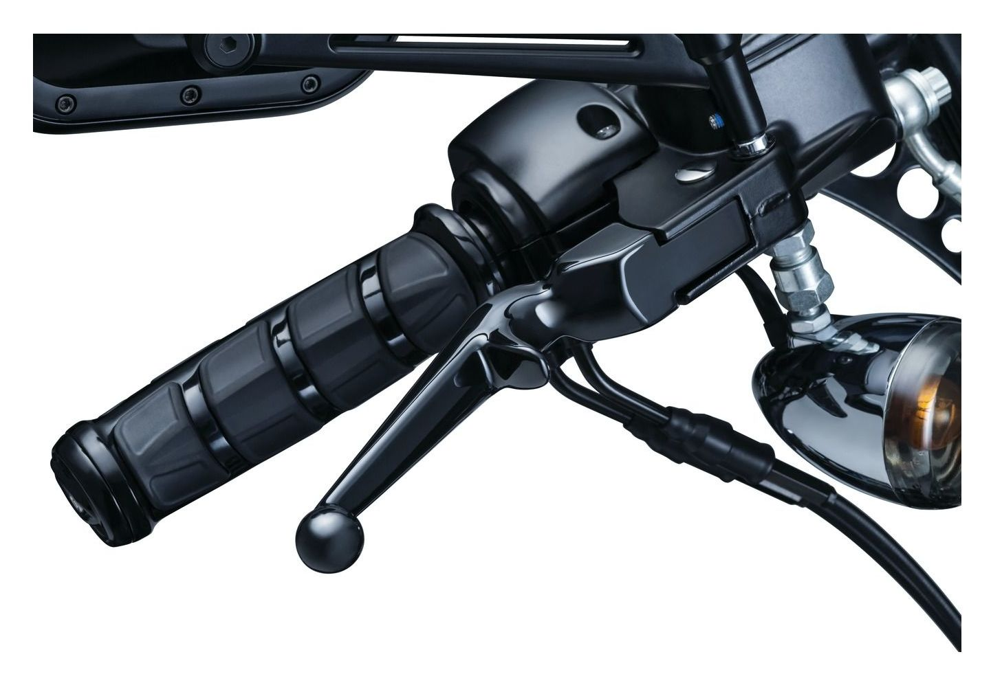 Kuryakyn 1836 Motorcycle Handlebar Accessory Clutch and Brake Trigger Levers for 2015-17 Harley-Davidson Softail Motorcycles Gloss Black 1 Pair