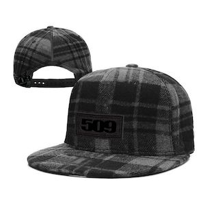 509 Plaid Wool Flat Bill Hat