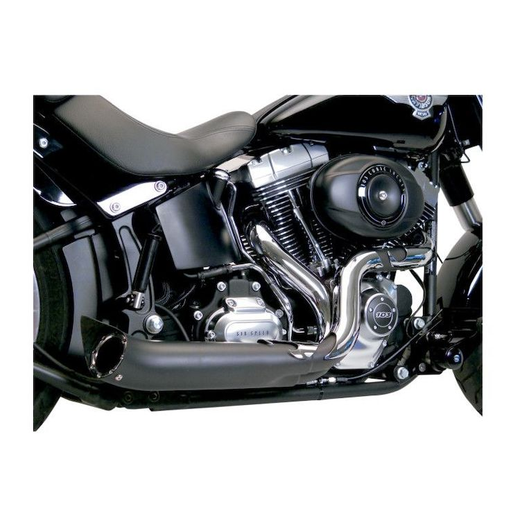 SuperTrapp Exhaust Paul Yaffe Phantom II For Harley Softail / Dyna 2012-2016 Black With Chrome [Blemished - Very Good]