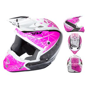 Fly Racing Dirt Kinetic Crux Helmet (2XL)