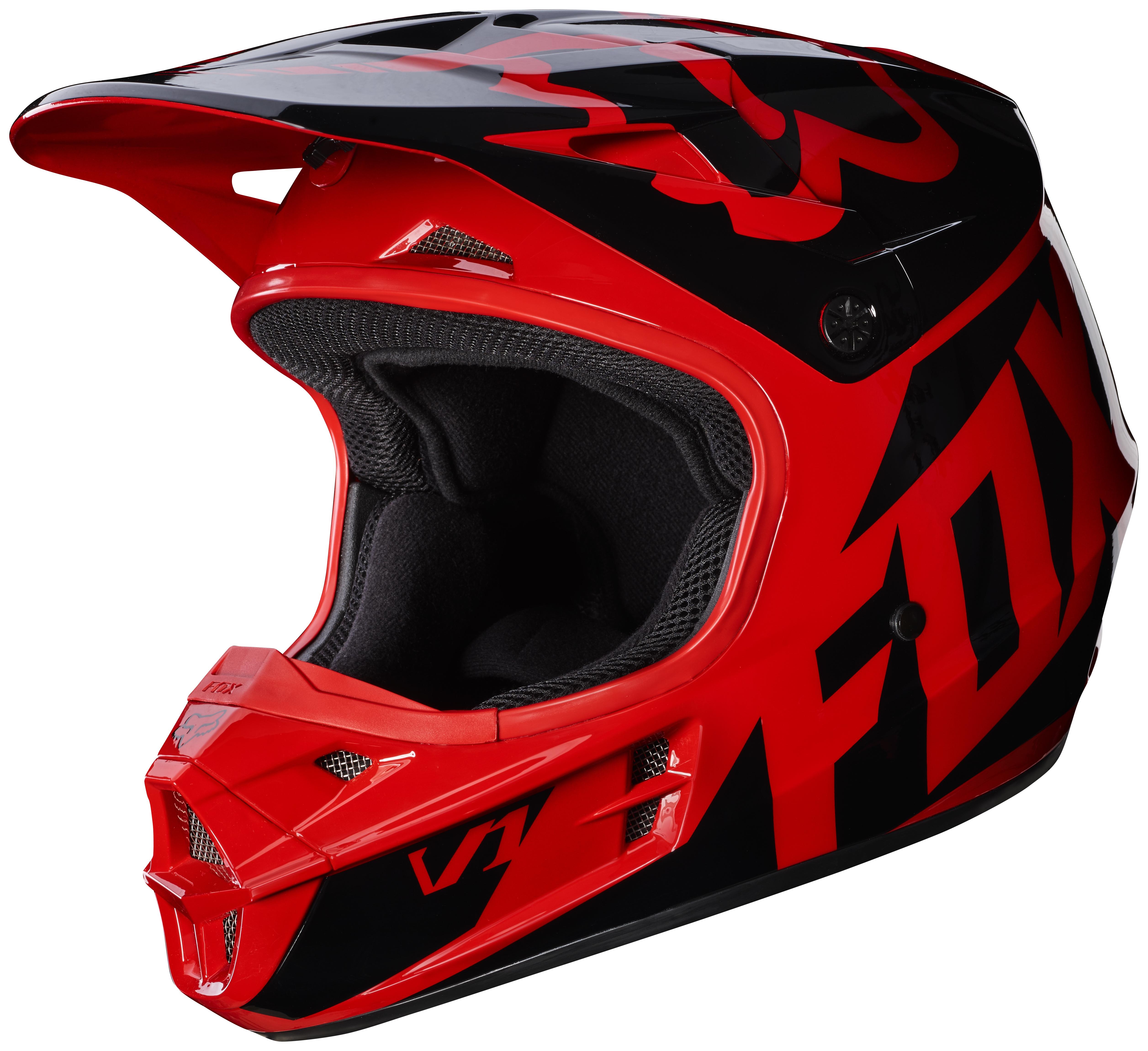 fox racing v1 race helmet 25 off revzilla. Black Bedroom Furniture Sets. Home Design Ideas