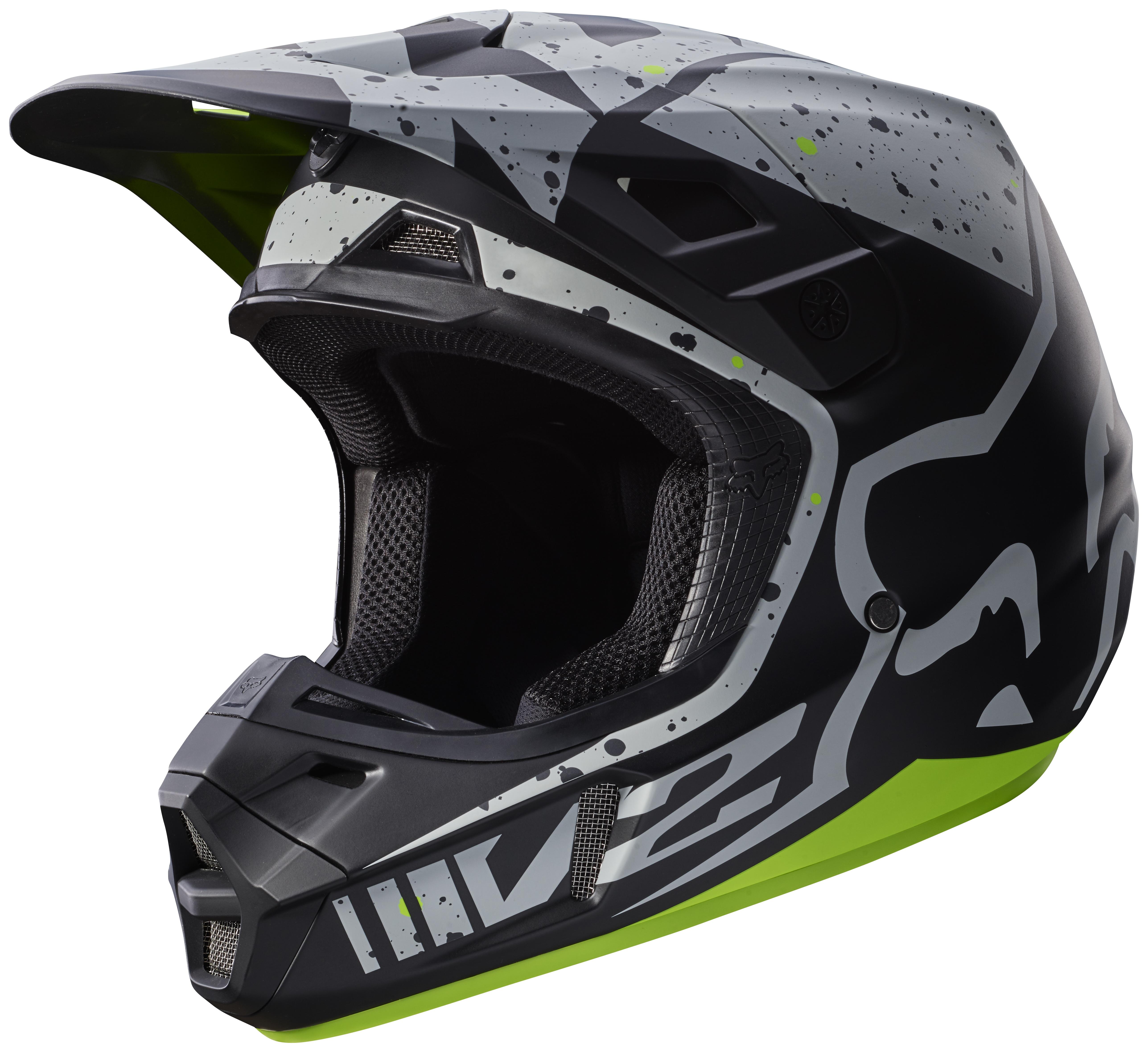 fox racing v2 nirv helmet revzilla. Black Bedroom Furniture Sets. Home Design Ideas