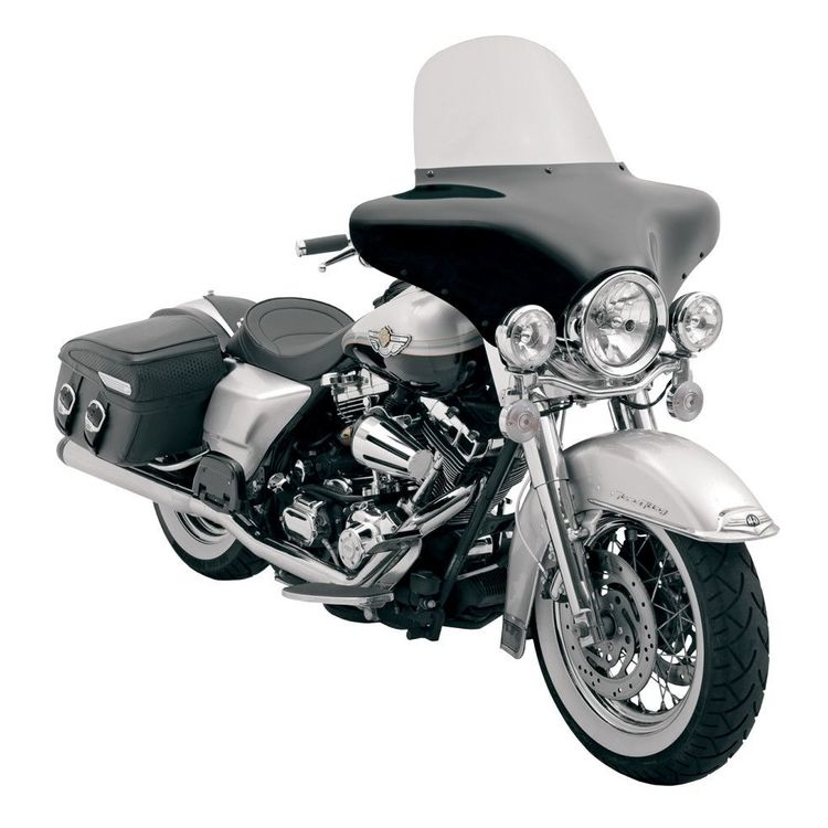 "Memphis Shades Batwing Fairing Windshield For Harley Purple / 12"" [Previously Installed]"