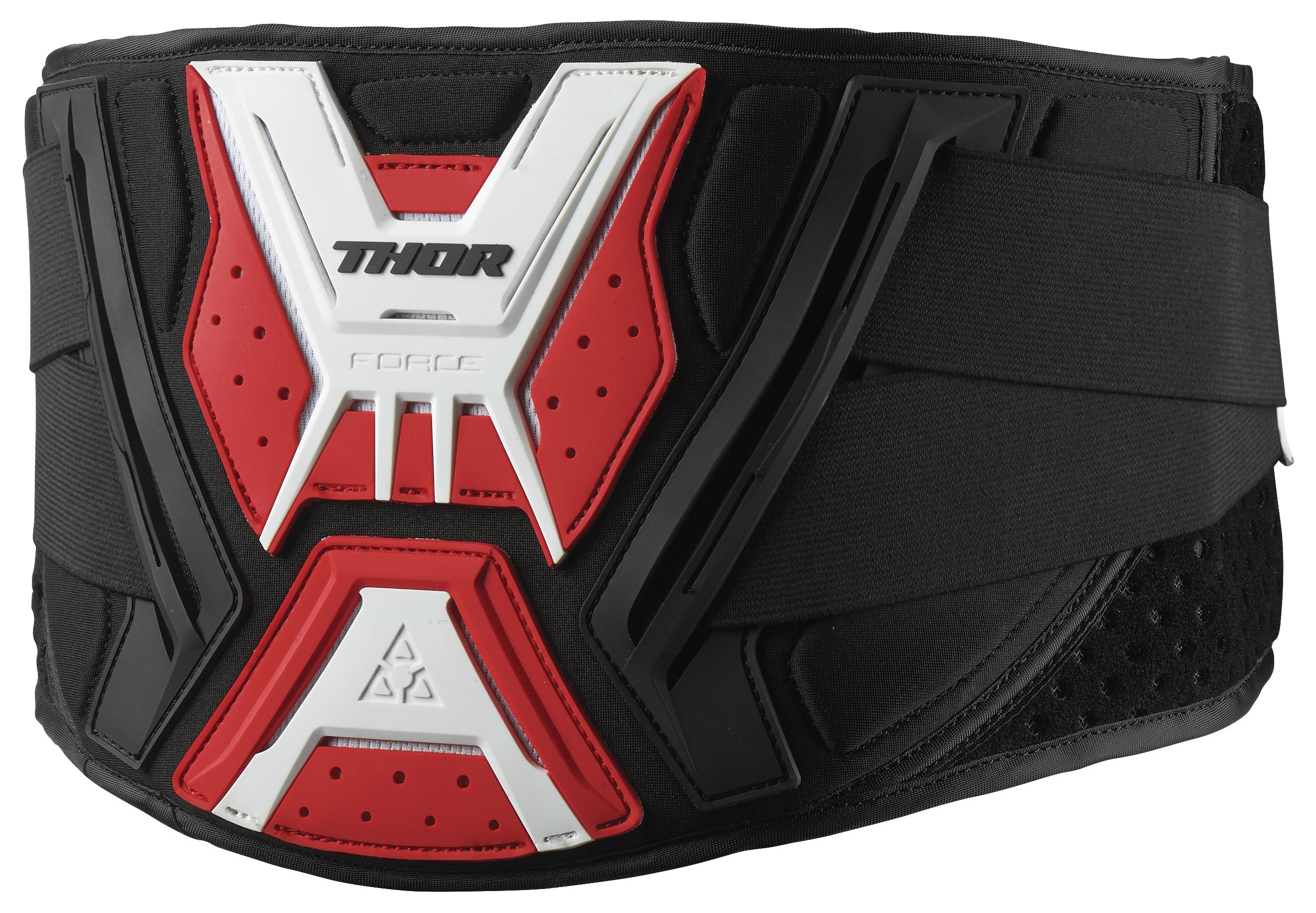 Thor Force Belt Black//White 2703-0136 Lg//XL